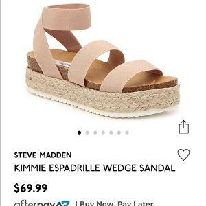 Steve Madden Wedge Sandal! Worn once!